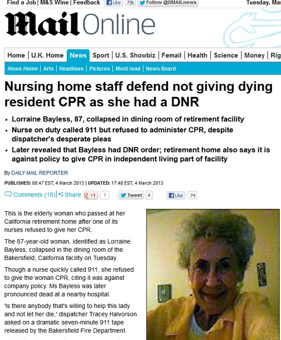 DNR Daily Mail Lorraine Bayless