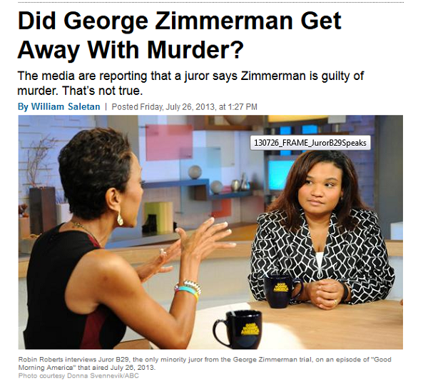 zimmerman hung juror Slate article grab 7-26-13